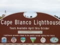 Cape Blanco Lighthouse Sign