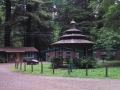 Gazebo and cabins at the Emerald Forest of Trinidad