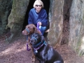 Kim and the pups at the Emerald Forest of Trinidad