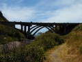 View of US-101 bridge from beach access trail