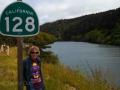 Kim at the Navarro River on CA-128