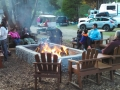 Fire pit and social area at the Manchester Beach / Mendocino Coast KOA