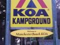 Entrance sign at the Manchester Beach / Mendocino Coast KOA
