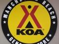 Sign at the Manchester Beach / Mendocino Coast KOA