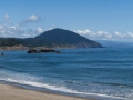 Beach and view of Humbug Mountain from Port Orford