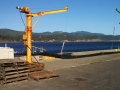 Cargo winches on pier at Port Orford
