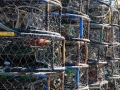 Crab traps on pier at Port Orford