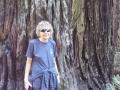 Kim at Lady Bird Johnson Grove Redwoods