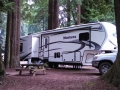 Our rig at the Emerald Forest of Trinidad RV Park