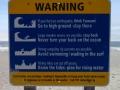 Surf Hazard Sign