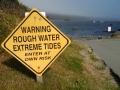 Trinidad Bay Warning Sign