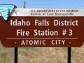 Atomic City Fire Station Sign