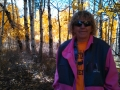Kim in the aspen groves, near Aspendale, CA