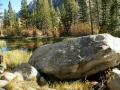 Stream & boulder below Lake Sabrina