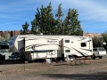 Our rig at the Cottonwood RV Park