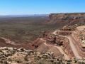 Dramatic switchbacks and cliffs of the Moki Dugway