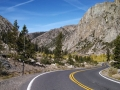 Winding road through the Sonora Pass