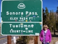 Kim at the Sonora Pass summit