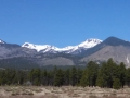 Snow-covered San Francisco Peaks above Flagstaff