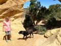 Kim & Pepper at Dutchman Arch, San Rafael Swell, Utah