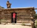 Kim at Swasey Cabin, San Rafael Swell, Utah