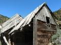 Collapsed barn at Cottonwood Glen Picnic Area. Nine Mile Canyon