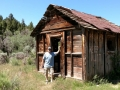 Jerry at abandoned cabin in Nine Mile Canyon