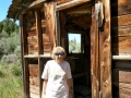 Kim at abandoned cabin in Nine Mile Canyon