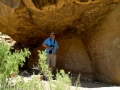 Jerry at rock art panel in Nine Mile Canyon