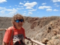 Kim at Meteor Crater