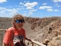 Kim at Meteor Crater
