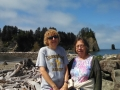 Mom & Kim at La Push harbor entrance