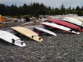 Surfboards on First Beach