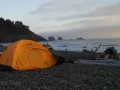 Tent camping on First Beach