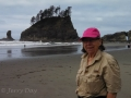 Mom at Second Beach at La Push