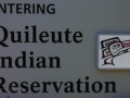 Quileute Indian Reservation Sign