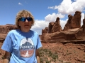 Kim at Arches National Park