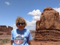 Kim at the Courthouse in Arches National Park