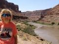 Kim at Colorado River, near Moab