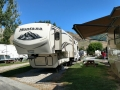 We moved to Golden Spike RV Park park for one night while waiting for truck repairs - our rig at the park