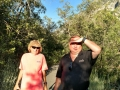 Kim and friend, Ron S., hiking in Little Cottonwood Canyon