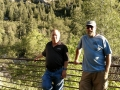 Jerry and friend, Ron S., hiking in Little Cottonwood Canyon