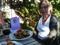 Mom at the Alder Wood Bistro - garden dinning