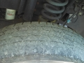 Badly worn front tire on our F350