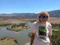 Kim at Green River overlook - Dinosaur National Monument