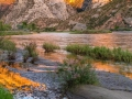 Sunset reflections on Green River - Dinosaur National Monument