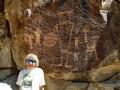 Kim at McGee Springs rock art - Dinosaur National Monument