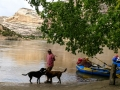 Jerry & pups at Steamboat Rock - Dinosaur National Monument