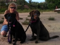 Kim-and-Pups-at-Bluff
