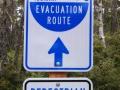Tsunami Evacuation Route Sign at Bullards Beach State Park